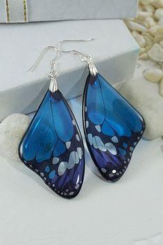 #blue_butterflies #blue_butterfly #butterfly_earrings Wing Earrings, Butterfly Earrings, Blue Earrings, Turquoise Earrings, Statement Earrings, Etsy Earrings, Earrings Handmade, Butterfly Gifts, Blue Butterfly