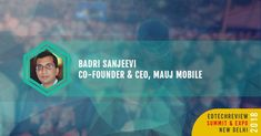 .@badrisanjeevi - Co-founder & CEO Mauj Mobile speaking on Science of Learning at EdTechReview Summit Expo 2018 on 2nd & 3rd Feb 2018. Join us for the session Book your tickets here goo.gl/cKfwgF #ETR18 #elearning #edchat #education #edtech #21stedchat #edleaders http://ift.tt/2DrJlhi