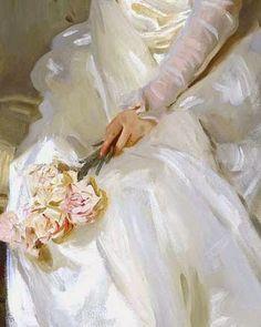 huariqueje: Mrs Joshua Montgomery Sears detail - John Singer Sargent 1899 Impressionism