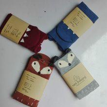 4 Pçs/lote Meias Bebê meias Mini Vestir Meninos Meninas Meias Fox meia infantil Crianças Piso Socks calcetines chaussettes enfants bebe(China (Mainland))