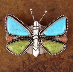 Summer's Day Butterfly Pin with my favorite colors