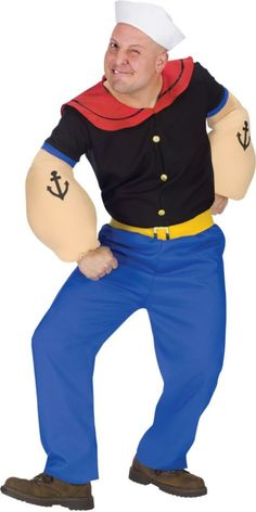Popeye Costume for Adults - Party City