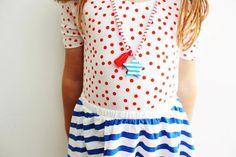 blue stripe star necklace