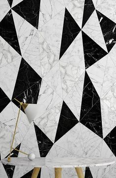 Monochrome, la nuova collezione WallPepper® Marble Foyer, Marble Wall, Foyer Design, Wall Design, Paint Designs, Cool Designs, Wall Cladding Designs, Marble Furniture, Showroom Design