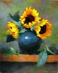 Justin Clements 'Sunflowers in Black'