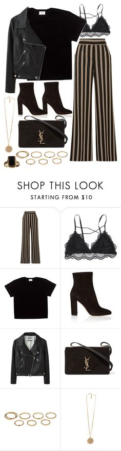 """Sin título #2246"" by alx97 ❤ liked on Polyvore featuring Etro, Gianvito Rossi, Acne Studios, Yves Saint Laurent, Akira and Givenchy"