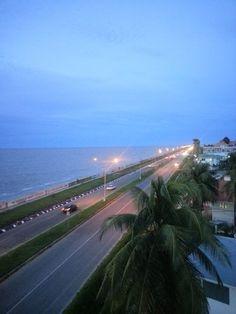 Sea wall Guyana ...The beautiful Atlantic Ocean.