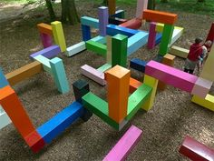 Amazing Playgrounds The colorful Primary Structure by Jacob Dahlgren, located deep in the forest of a rural estate in Sweden called Wanas. Playground Design, Backyard Playground, Children Playground, Playground Ideas, Modern Playground, Atelier Architecture, Cool Playgrounds, Natural Playgrounds, Outdoor Play Spaces