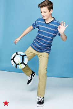 Whether he's an all-star soccer player or first chair in the band, find back-to-school looks he'll love to rock on the first day of class! Visit macys.com for cool, fun fashion for kids of all ages!