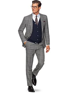 Suit Grey Check Havana P4711i | Suitsupply Online Store
