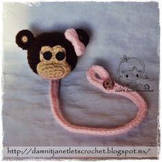 Monkey Pacifier Holder - PDF Crochet Pattern - Instant Download