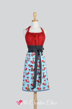 Cute Kitsch Retro Apron  Full Kitchen Womens by CreativeChics, $40.00