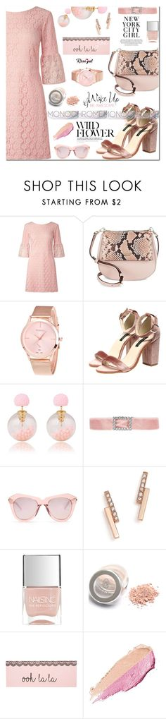 """""""Be awesome!!"""" by samra-bv ❤ liked on Polyvore featuring Miss Selfridge, Kate Spade, Karen Walker, ZoÃ« Chicco, Nails Inc., By Terry, H&M, WALL, vintage and polyvorefashion"""