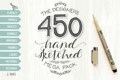 Graphic Design - Graphic Design Ideas  - Check out Designer's Hand Sketched Megapack by Lisa Glanz on Creative Market   Graphic Design Ideas :     – Picture :     – Description  Check out Designer's Hand Sketched Megapack by Lisa Glanz on Creative Market  -Read More –