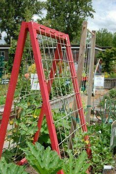 You could use bedsprings to do this in the garden.
