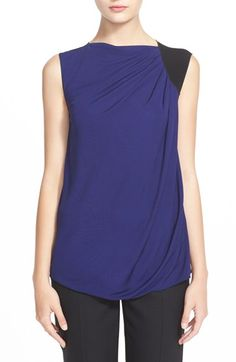 Armani Collezioni Sleeveless ColorblockTop available at #Nordstrom