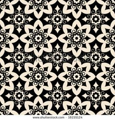 geometric floral pattern - stock vector