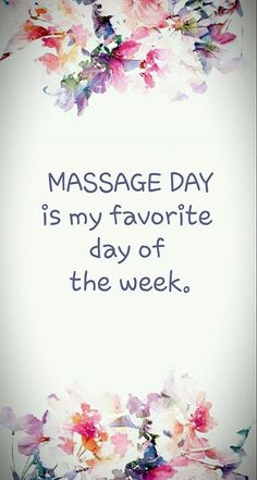 Make today your favorite day of the week and come see our gifted Massage Therapist TODAY.