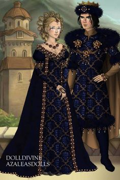 Medieval-ish couple... ~ by Inanna ~ created using the LotR Hobbit doll maker | DollDivine.com