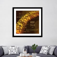 """Discover «""""KEEP CALM and BUY SOME ART"""" Vintage 1920s posterized»,  Exclusive Edition Fine Art Print by Andy Young via @Curioos"""