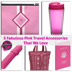 5 Fabulous Pink Travel Accessories That We Love #travel #pink