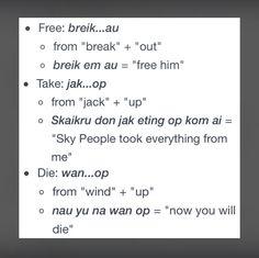 How to speak Trigedasleng (Grounders language)