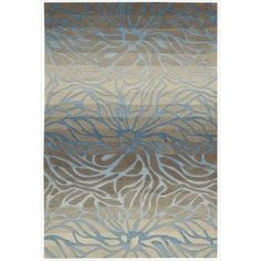 @Overstock - Over scale abstract water lilies float gracefully across this extravagant contemporary rug in well-bred hues of earth, sky and charcoal to exude an air of relaxed refinement. Deluxe hand-carved elements create a superb texture and sensational contrast.http://www.overstock.com/Home-Garden/Hand-tufted-Contour-Abstract-Lilies-Ocean-Sand-Rug-73-x-93/7860805/product.html?CID=214117 $437.99