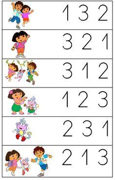 Dora and Diego math Math Activities For Kids, Kindergarten Math Worksheets, Math For Kids, Preschool Activities, Teaching Autistic Children, Teaching Kids, Kids Education, Google, Letter E Activities