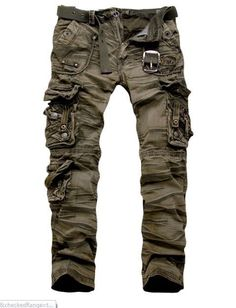 Men Clothing 2012 New Military Vintage Camo Style Multi pockets Cargo Pants in Clothing, Shoes & Accessories, Men's Clothing, Pants Camo Fashion, Mens Fashion, Fashion Outfits, Military Style Fashion, Camouflage Fashion, Military Camouflage, Fashion Hair, Apocalyptic Fashion, Post Apocalyptic