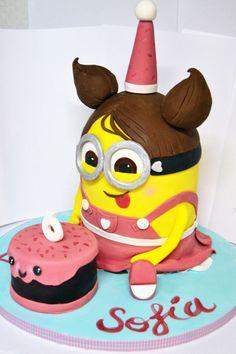 Tarta Minion Girl para el 6º cumpleaños de Sofía (Sofía´s 6th birthday Minion cake)