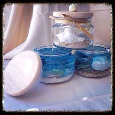 Beach Themed Gel Candle in Anchor Country Glass Jar