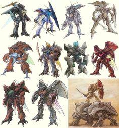Aura Battler Dunbine: The Wings of Rean Super Robot Taisen, Robot Sketch, Robots Drawing, Manga Anime, Cool Robots, My Fantasy World, Robot Design, Mechanical Design, Stuff And Thangs