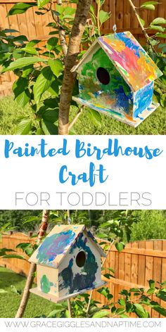 Painted Birdhouse Craft for Toddlers
