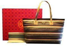 Tory Burch Robinson Zig Zag East West Handbag Multi-color Tote Bag $400
