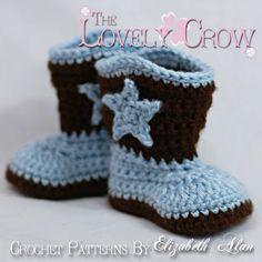 Cowboy Boots Crochet Pattern for Baby BOOT by TheLovelyCrow