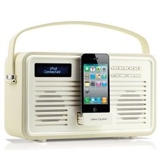 VQ Colourgen Retro Radio 30 Pin, Cream