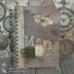 Hand-made men's vintage notebook