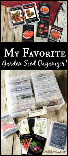 The best garden seed organizer ever has totally revolutionized my seed saving system. Check out this handy box and organize your garden seeds!