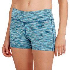 Avia Women's Active 3 inch Captivate Bike Shorts, Blue