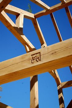 Bare Timber Frames Just After Raising By Our Craftsmen