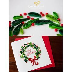 Is it too early to be excited about the holidays? #quillingcard #quilling #quill…