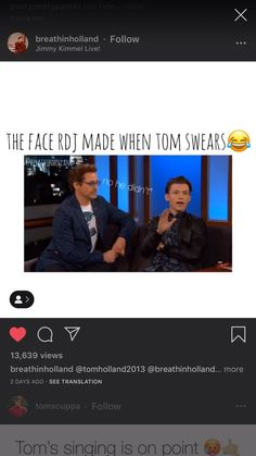 Tom Holland: *swears* RDJ: *gives Tom a look of disappointment* Marvel Jokes, Funny Marvel Memes, Dc Memes, Avengers Memes, Marvel Dc, Marvel Actors, Marvel Comics, Spiderman, Justin B