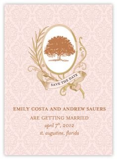 #wedding #invitation #summer #tree #oak