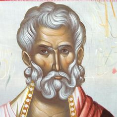 Άγιος Πολύκαρπος Byzantine Icons, Orthodox Icons, Renaissance Art, Creations, Detail, Drawings, Face, Hair, Drawing