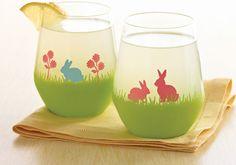 Martha Stewart Easter Bunny Glasses #PlaidCrafts