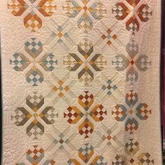 Spring Quilt Market 2017 Sandy Gervais --Fancy That quilt made with her Hello My Friend fabric collection