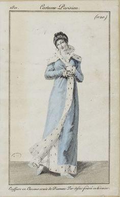 Costume Parisien, 1811, From the Bibliothèque des Arts Décoratifs via SceneInThePast flickr. plate 1120