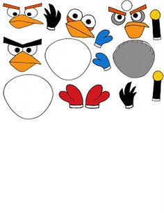 angry birds template cut outs Cumpleaños Angry Birds, Festa Angry Birds, Bird Birthday Parties, Boy Birthday, Bird Template, Bird Party, Bird Theme, Childrens Party, Balloons