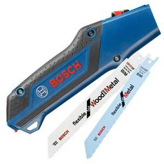Bosch Hand Pad Pocket Saw Quick Fit Handle for Reciprocating / Sabre Saw Blades. Includes Saw handle and 2 replaceable blades. Cool Tools, Diy Tools, Handy Tools, Dexter, Bosch Tools, Cordless Reciprocating Saw, Lever Action, Power Tools, Wood And Metal