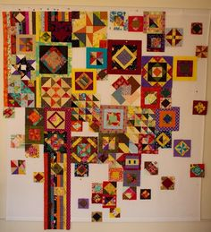 Anja's Quilt's - Gypsy Wife in progress. Good idea for some of my test blocks.
